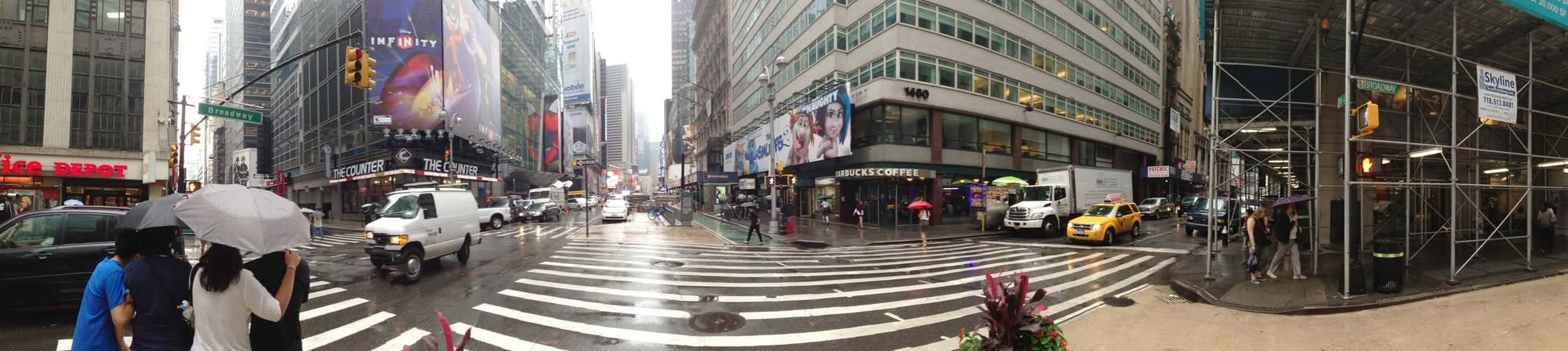 Panorama of Times Square intersection