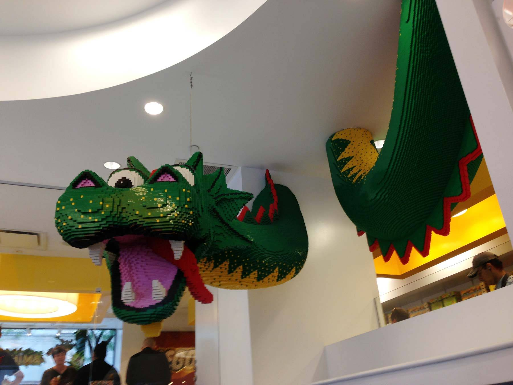 A dragon made out of LEGO