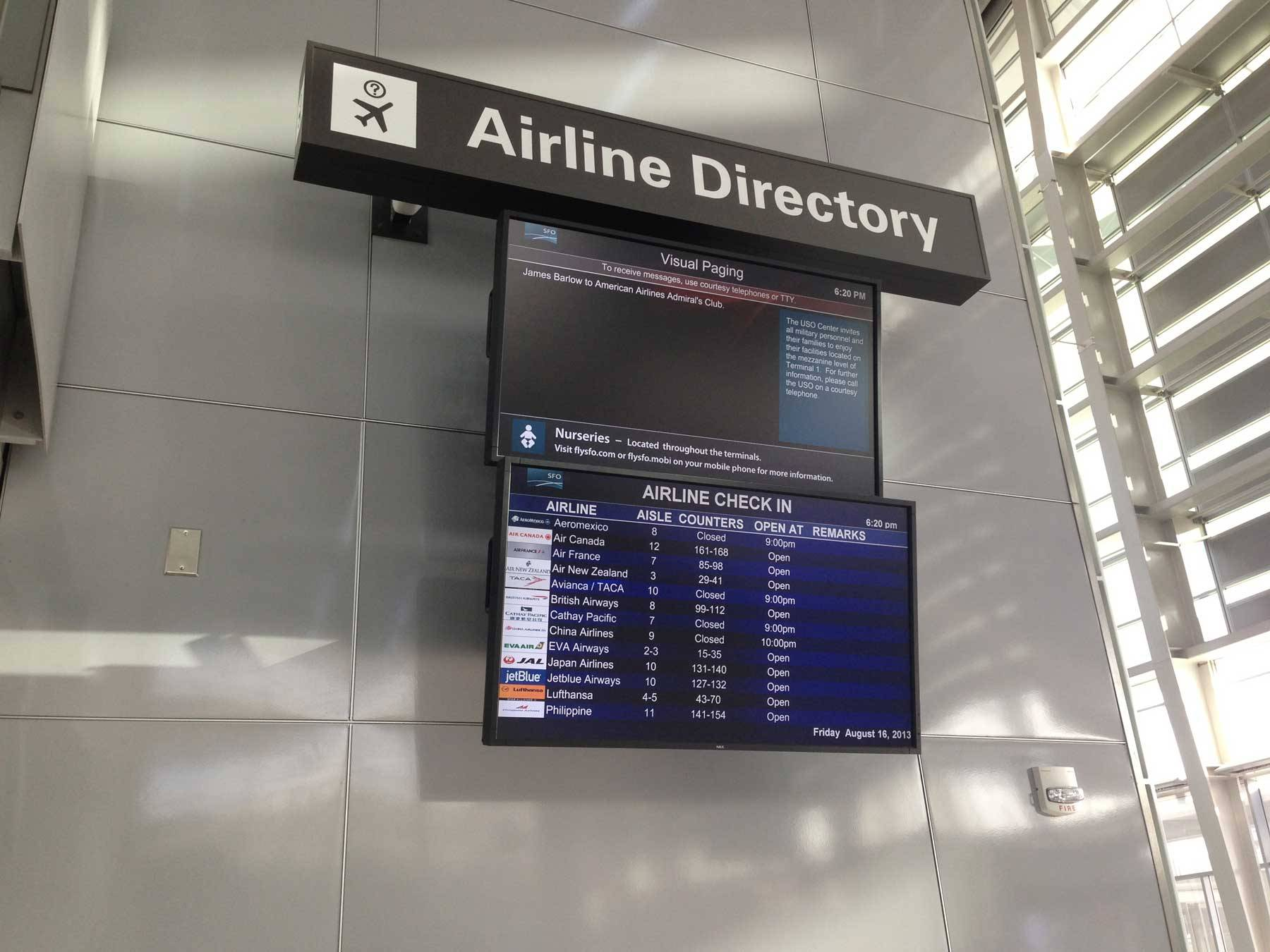 Airline directory