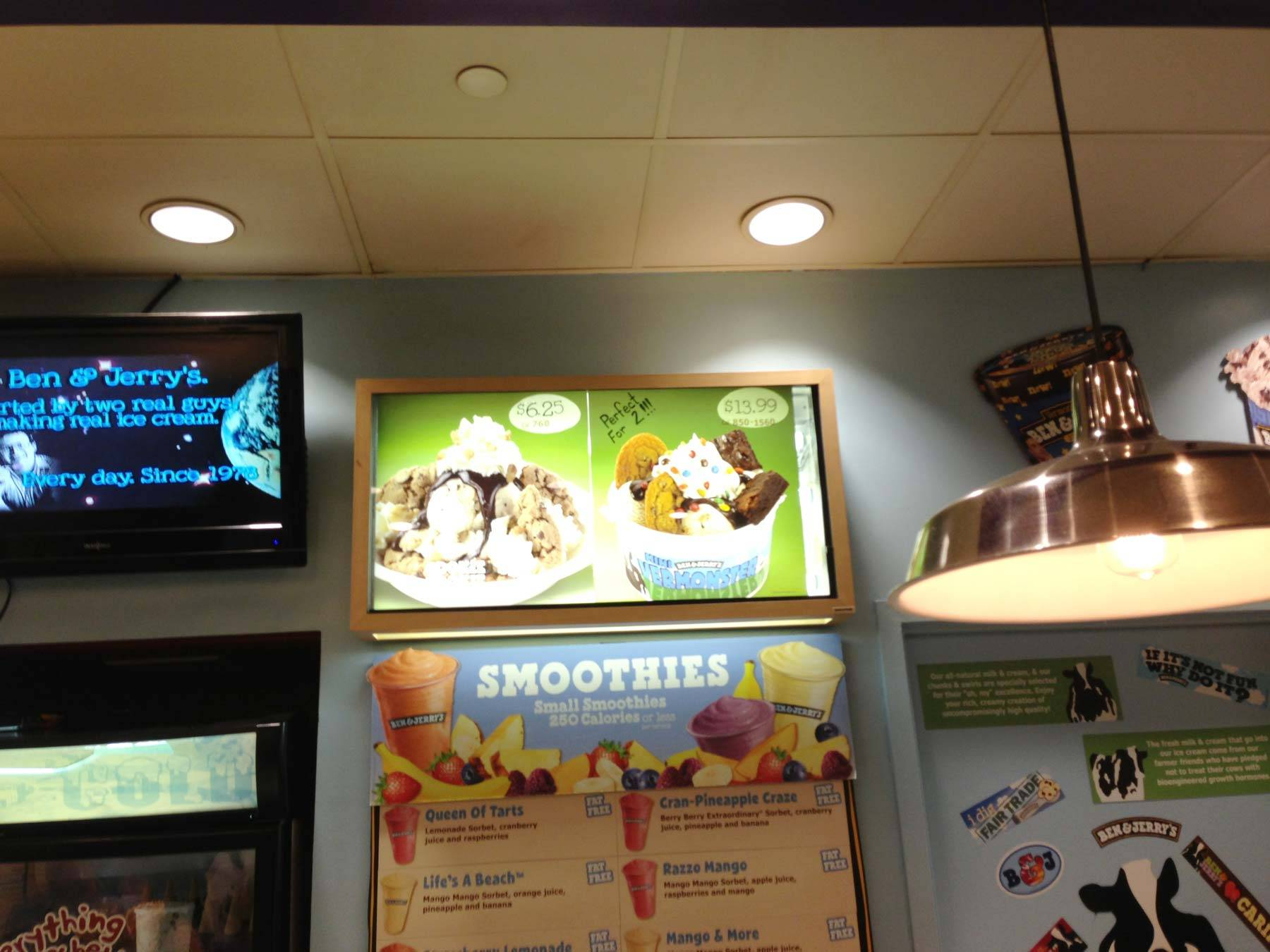Ben and Jerry's signage