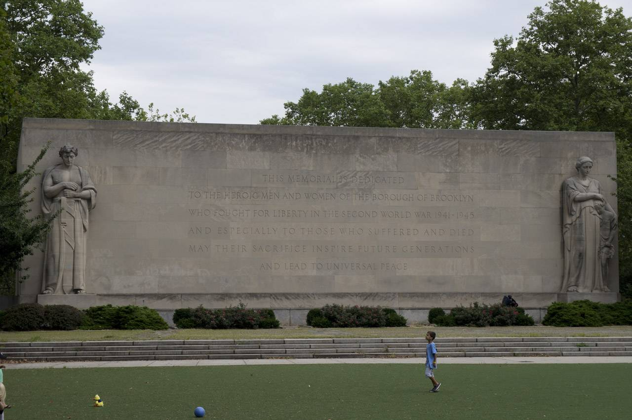 Close up of the memorial wall