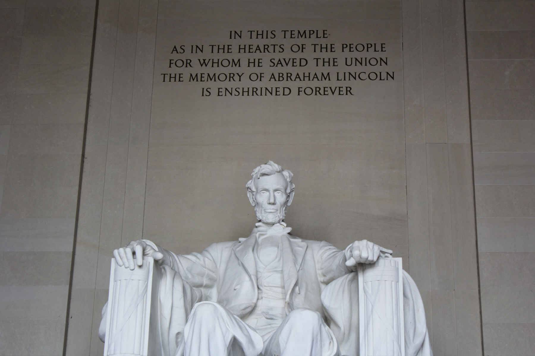 Closeup of the Lincoln Memorial
