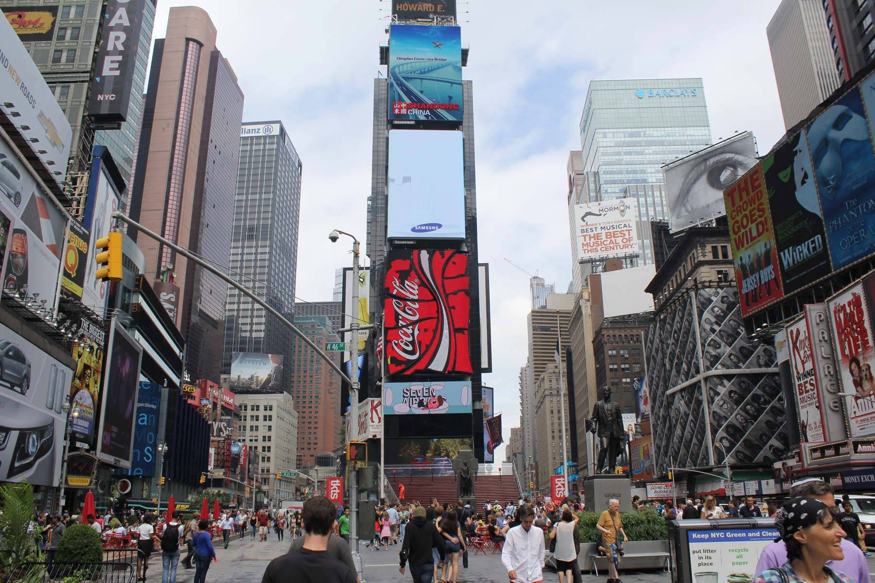 Times Square looking far brighter and livlier