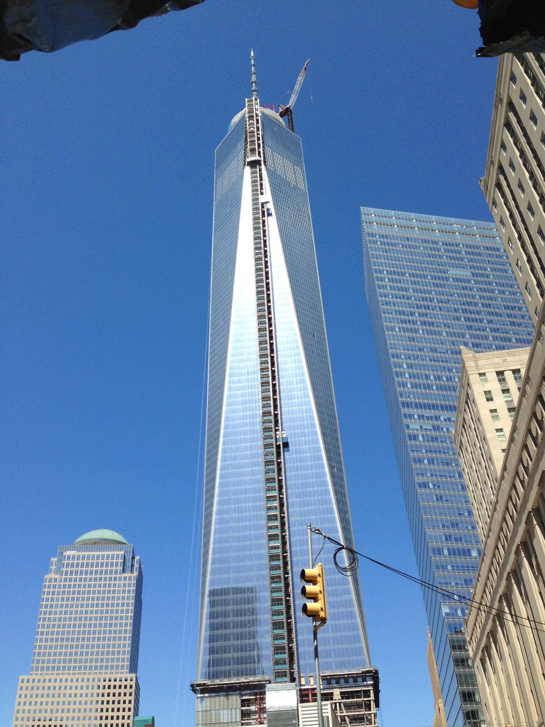 Close up of One World Trade Center