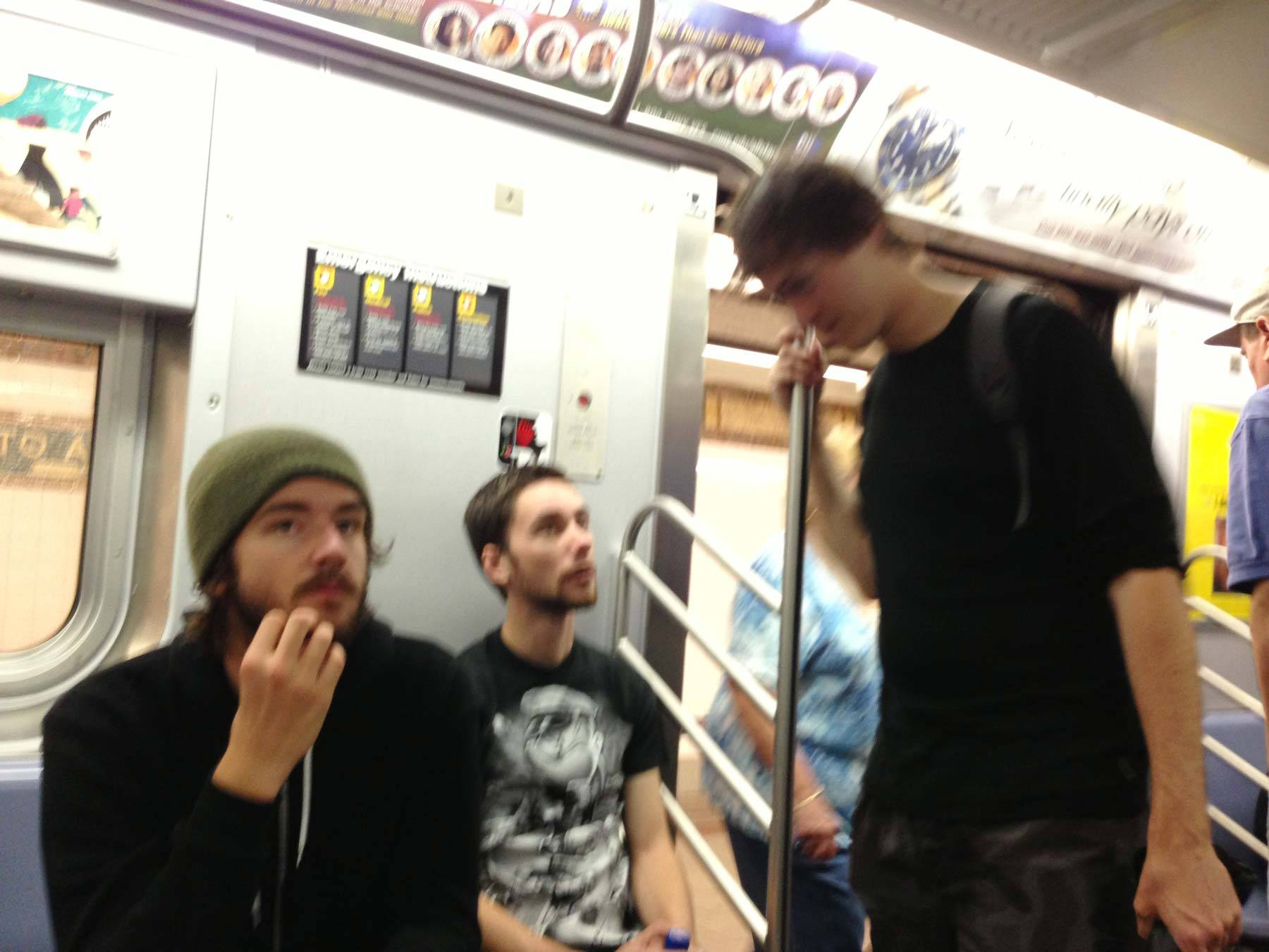 Butcher, Jared, an Richard on the train