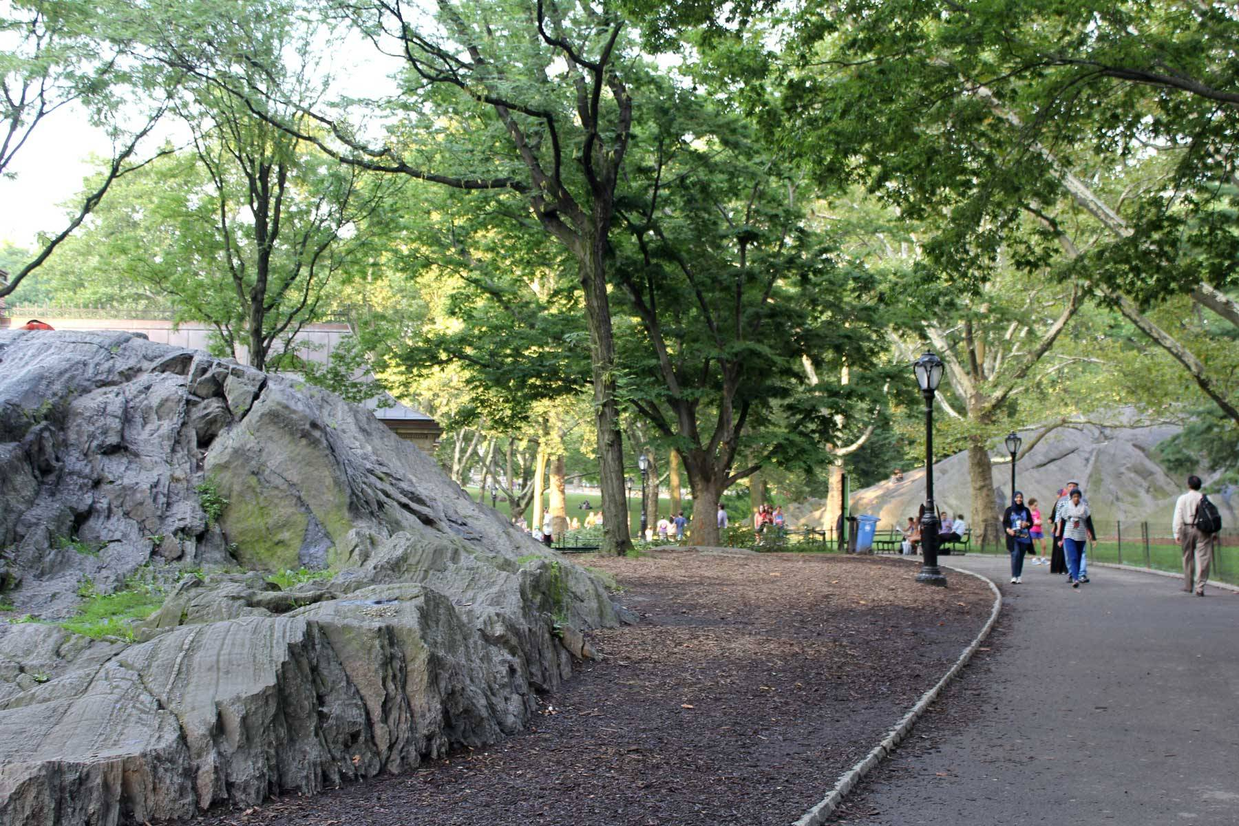 Curving path in Central Park