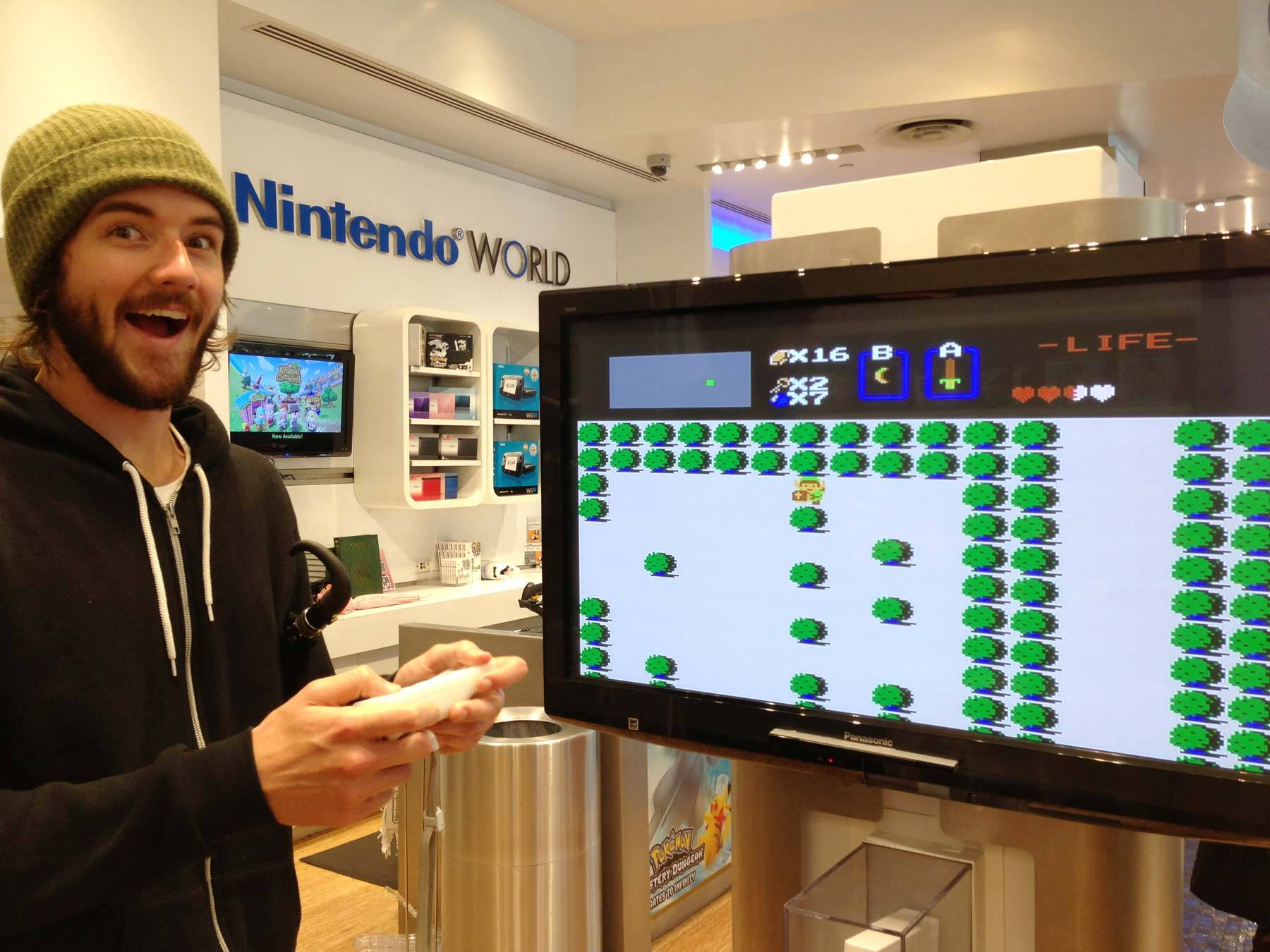 Butcher playing The Legend of Zelda on Wii Virtual Console