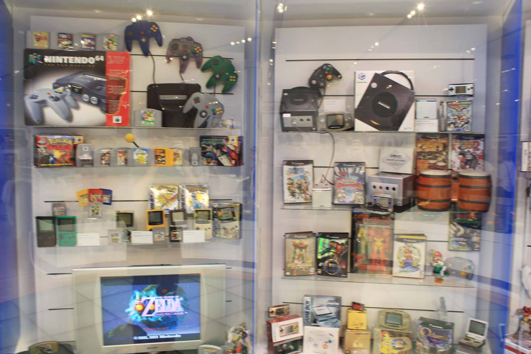 Nintendo 64, Gamecube, and Game Boy Advanced merchandise (shoutouts to Metroid Prime 1 and 2)