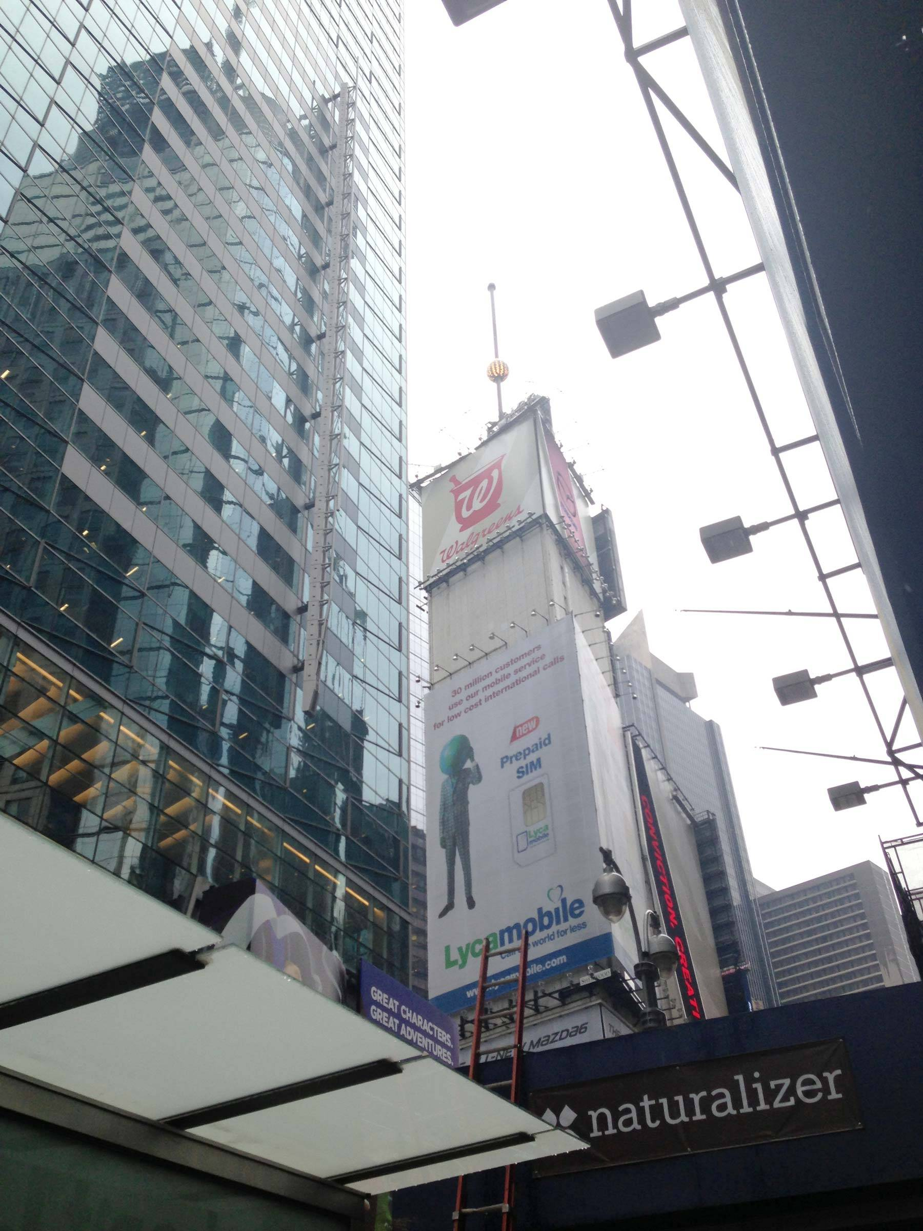 Tall buildings and adverts