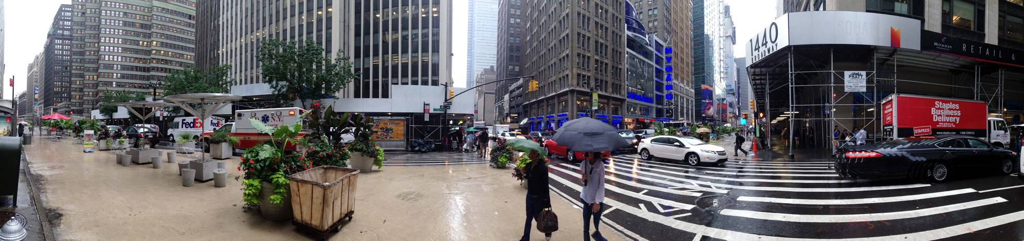 Panorama of Time Square